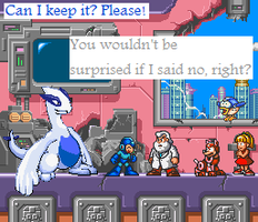 Mega Man Wants A Lugia by BlueDragonDevious