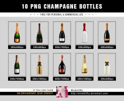 10 PNG Champagne Bottles by Minkki2fly