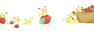 Pikachu Got Strawberries by MokonaTenshi