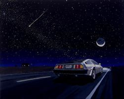 DeLorean 4 - Night Drive by DeloreanREB