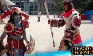 Wukong and Shyvana cosplay by LuzbeldAuvergne