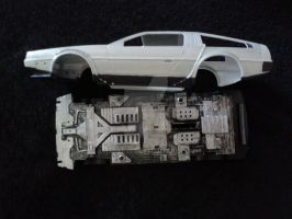 BTTF DeLorean Time Machine Model WIP 03 by gamera68