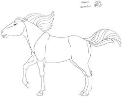 Stylized Horse Lines by SaraChristensen