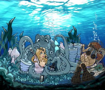 Octopus's Garden by SweetCaptiveArt