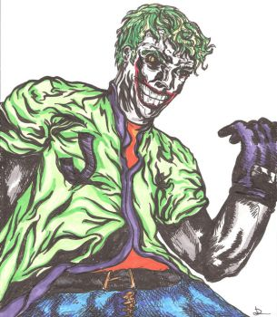 Joker in Casual Clothes by shadowlesshands