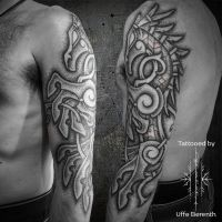 Sacred Sleipner Tattoo by Uffe Berenth by UffeBerenthHansen