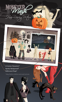 Monster Mash Halloween Vectors by jwebster45206