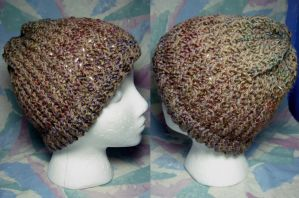 Brown Rainbow Hat by SmilingMoonCreations