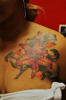 Freehand Flower and Lightning Bugs by DeviousE