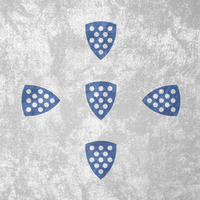 Kingdom of Portugal ~ Grunge Flag (1185 - 1248) by Undevicesimus