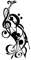 Musical Tattoo Design by Matoony310
