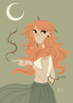 WITCHY ART CHALLENGE - Day 10 - A Plant Witch by Vicky-Pandora