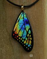 Warm Mix Glass Butterfly Wing by FusedElegance