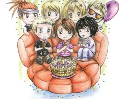 Chibi Party for Steph by AngieVX