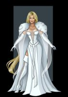 emma frost (medieval style)  -  commission by nightwing1975