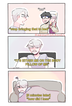YOI: LOSING TO A BODY PILLOW by Randomsplashes