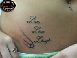 Live, Love Laugh by theothertattooguy