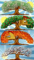 Seasonal Trees by RSImpey