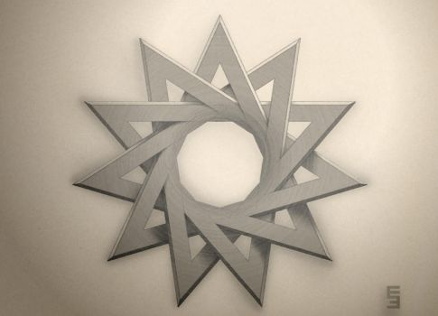 Hendecagram - Tattoo Design by EisenFeuer