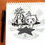 Day 200 - Pineapple apple by salvadorkatz