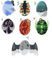 $1 or 100 Points Egg Adopts - 6/7 Open - by DemoniaTheGuardian