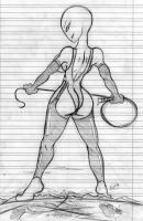 Giantess Draw - Uni Tormentor by Colonel-Gabbo