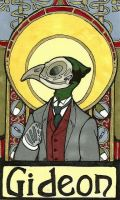 Art Nouveau Badges: Dr. Gideon by Geistlicher