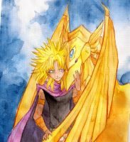 Yami Malik and the Winged Dragon of Ra by BluestWaves