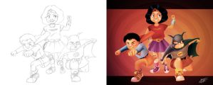 Childhood! - Side by Side by tabu-art