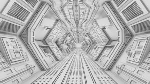 3D Model | Spaceship Corridor WIP | Dystopiartist by Dystopiartist