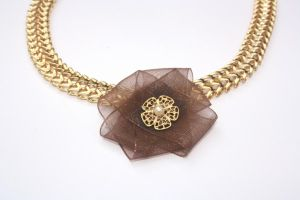 FREE Shipping Extraordinary Organza Necklace by iditstern