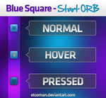 Blue Square Start Orb by etcoman