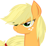 Applejack Serious Face by Godoffury