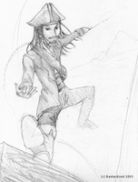 Sketch of Jack Flying by bastardized