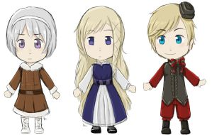 Fem!Norway, Iceland, and Denmark by HetaGarnet