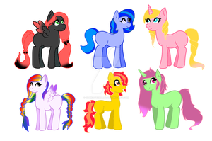 MLP Mystery Egg adopts revealed by Diamond-waterfalls