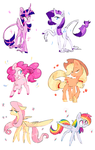 ponies by GrumpyBuneary