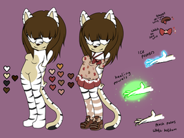 .:OLD:Ref: Amelia The White Tigeress:. by XxRubytheRabbitxX