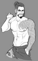 Hanzo sketch 2 by bylacey