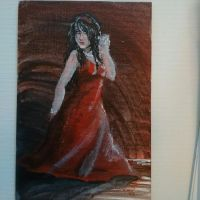 Art366-106-Woman in Red(Color Study) by Timmytushoes