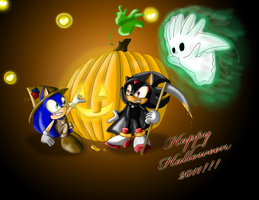 Cute Sonic Halloween 2011 by ShadowReaper12
