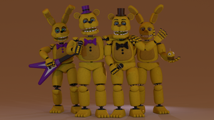 Fredbear and Old Friends by LAK132