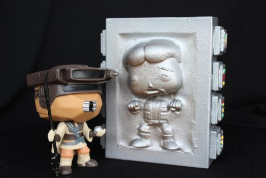 POP Han Solo in Carbonite and Boushh by RamageArt