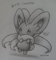 #573 Cinccino by Bluekiss131