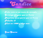 Candice Free Font by YourSource