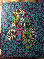 Mind Games Zebra Canvas by Brutechieftan