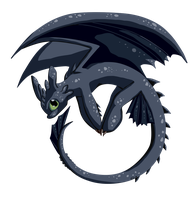 :chibi: Nightfury by Sofua