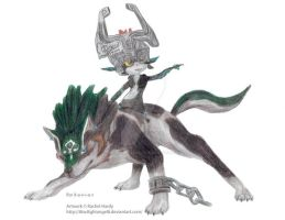Wolf Link and Midna by 8TwilightAngel8