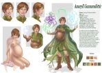 Commission 79 Amaryll charachter sheet by LadyDeddelit