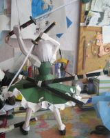 Papercraft Youmu (behind) by Rika-strife